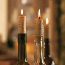 Świeczki - korki do wina 4 szt. - romantyczny wieczór