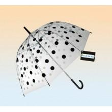 Parasol przezroczysty w kropki- duża otwierana ręcznie parasolka
