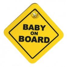 TABLICZKA Z PRZYSSAWKĄ - BABY ON BOARD