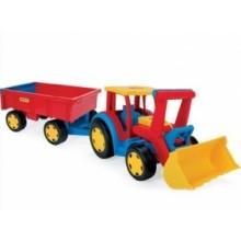 Gigant Truck Traktor Ładowarka z Przyczepą  WADER 66300- A1