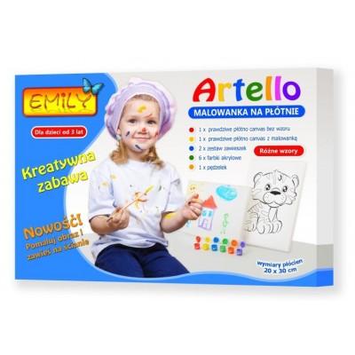 Artello - Malowanka Na Płótnie - 2 Obrazy - Zestaw Deluxe