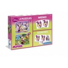 PUZZLE 2 x 30 el. + MEMO + DOMINO MINNIE