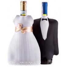 Sukienka I Garnitur Na Butelkę Mr  Mrs DiVinto