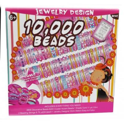Olbrzymi zestaw do produkcji biżuterii - 10000 elementów